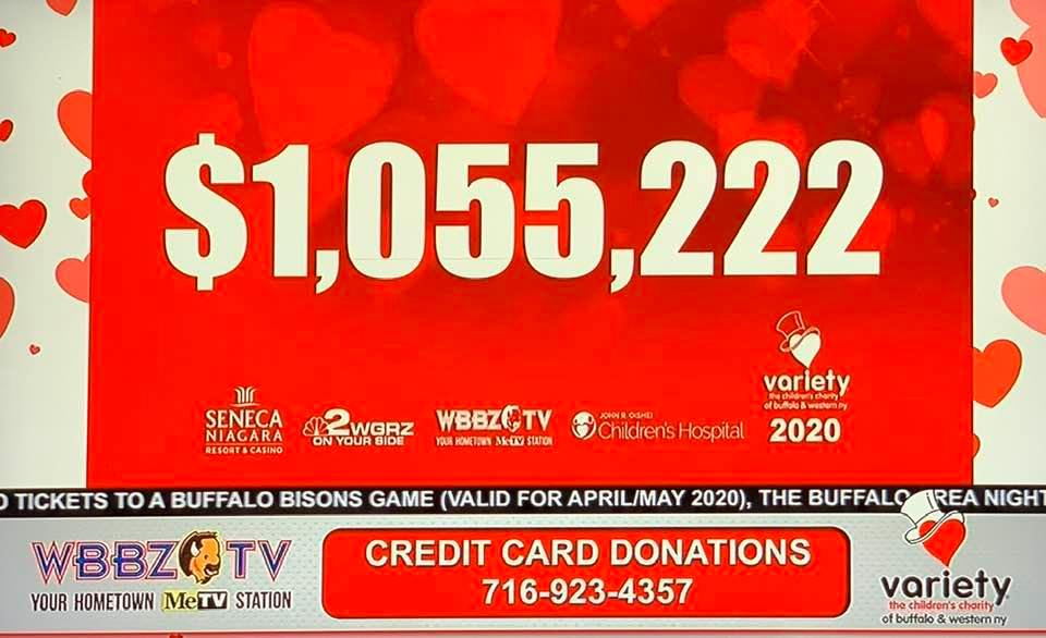 Variety Club Announces $1,055,222 raised for the 58th Annual Variety Kids Telethon!