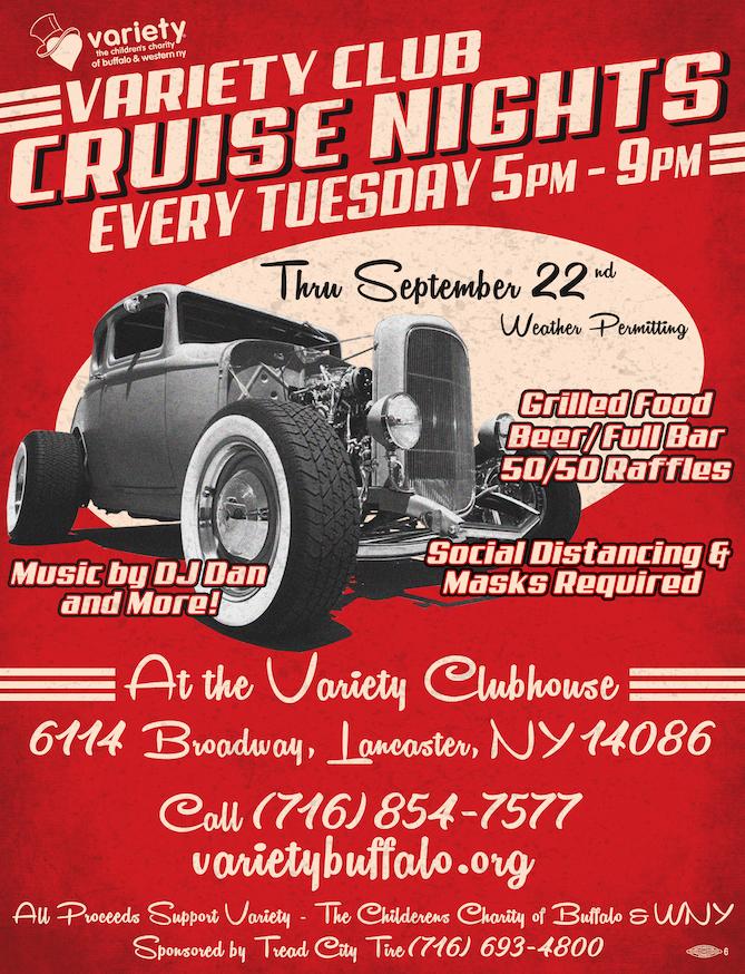 Notice – Variety Tuesday Night Cruise